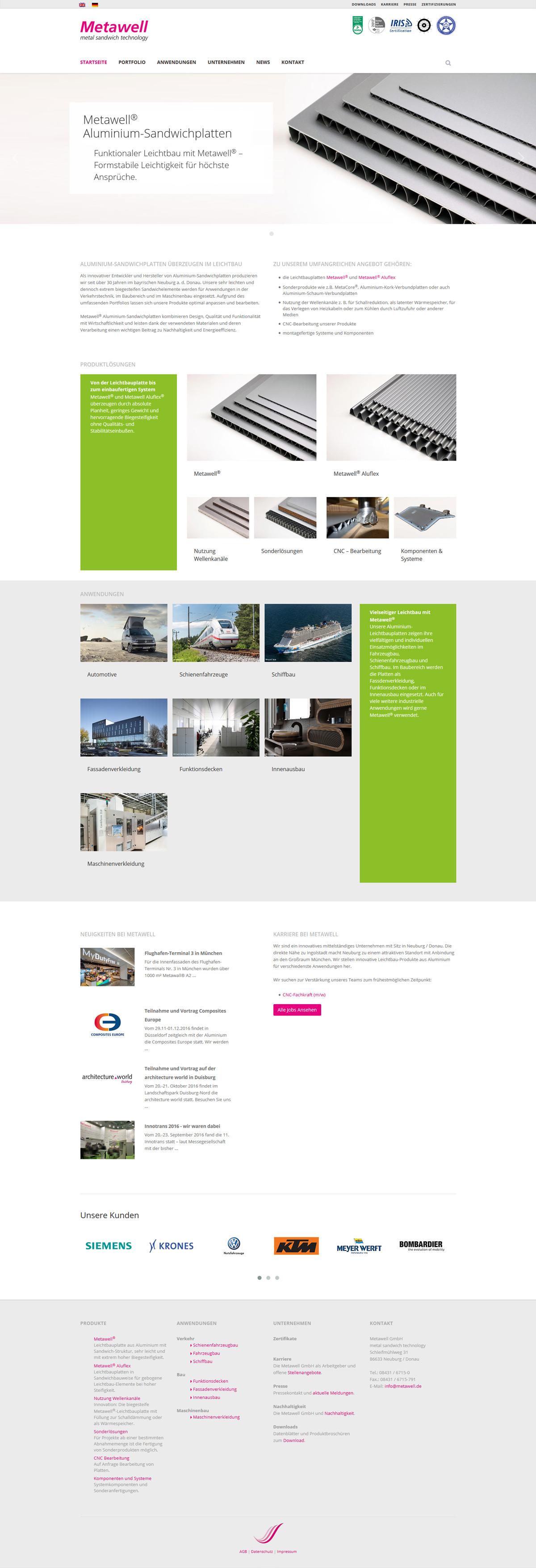 Screenshot Website Stand 2016