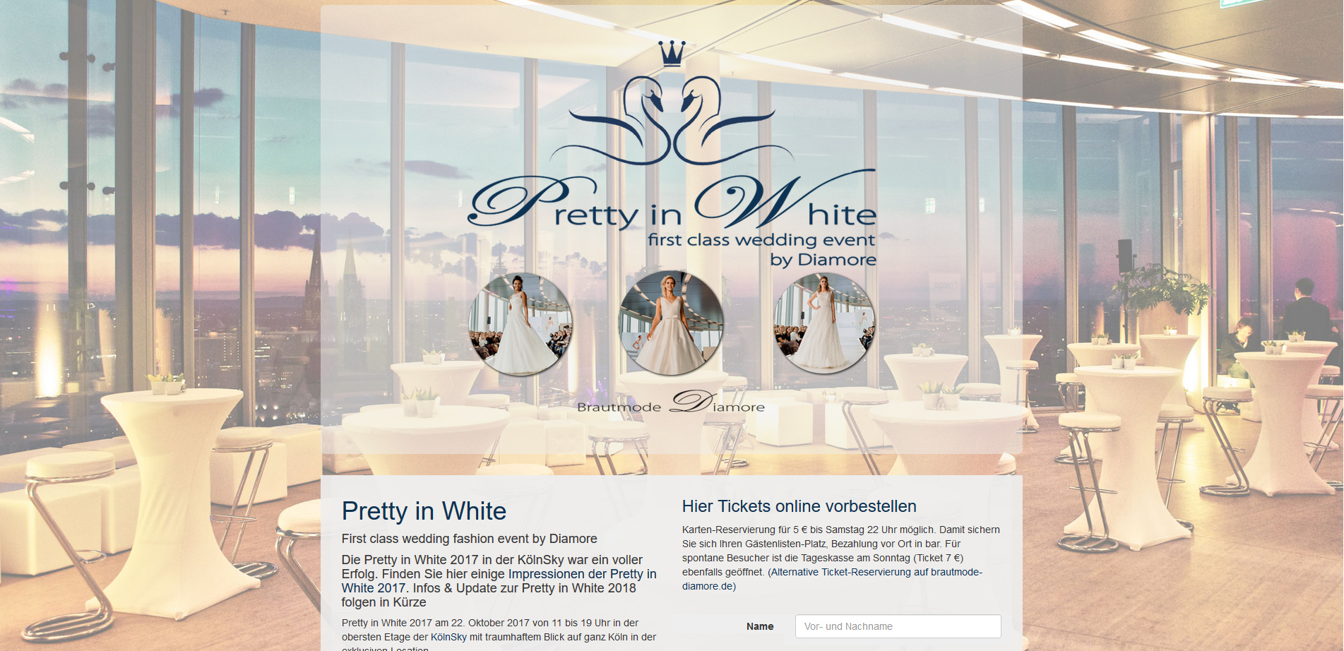 Eventsite pretty-in-white.de