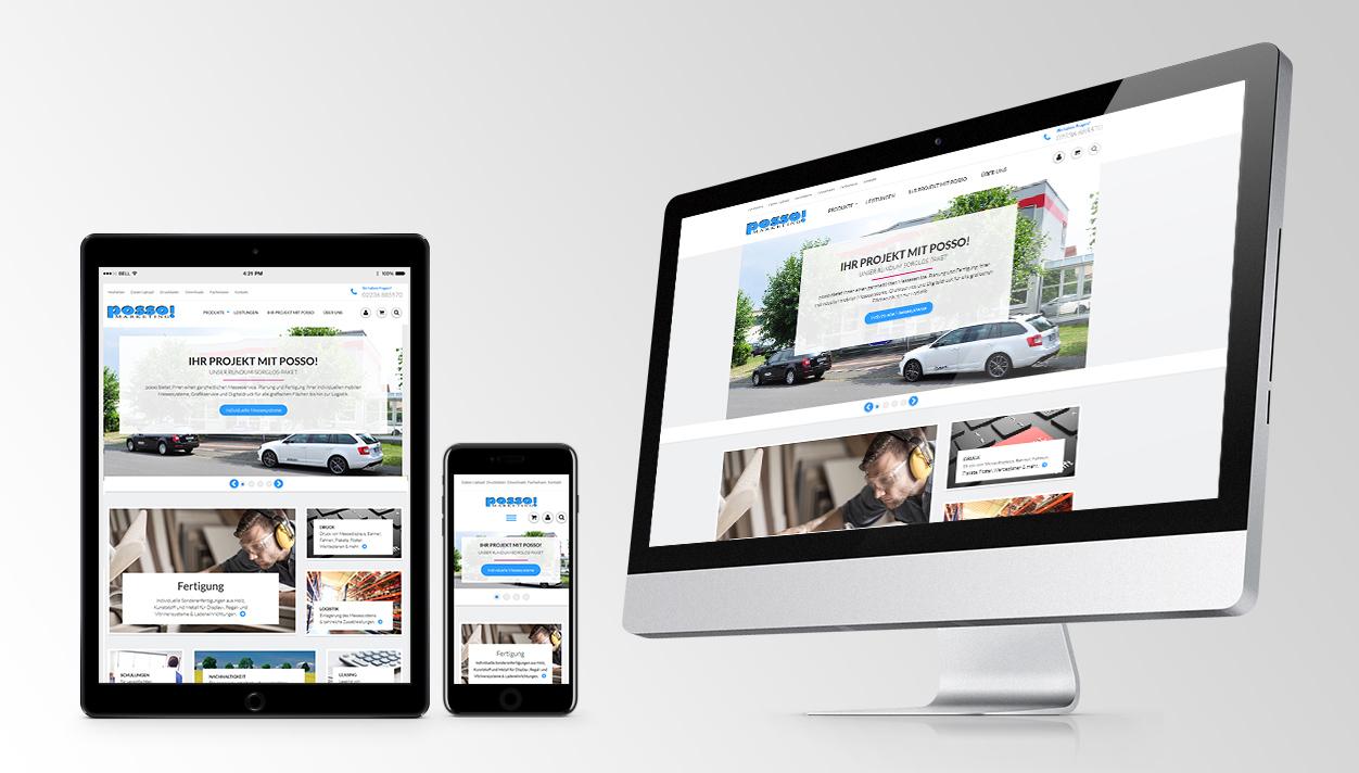Konzept, Layout, Programmierung Online-Shop