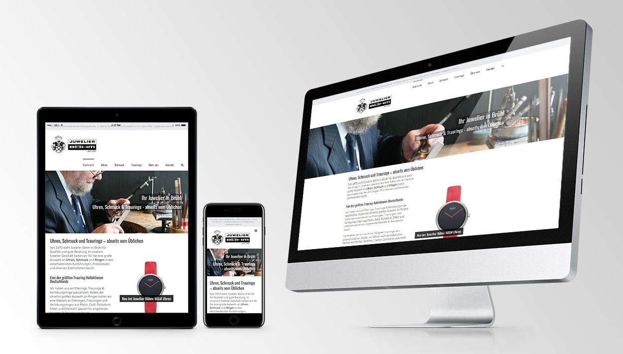 Screenshot Juwelier Böhm responsive Website