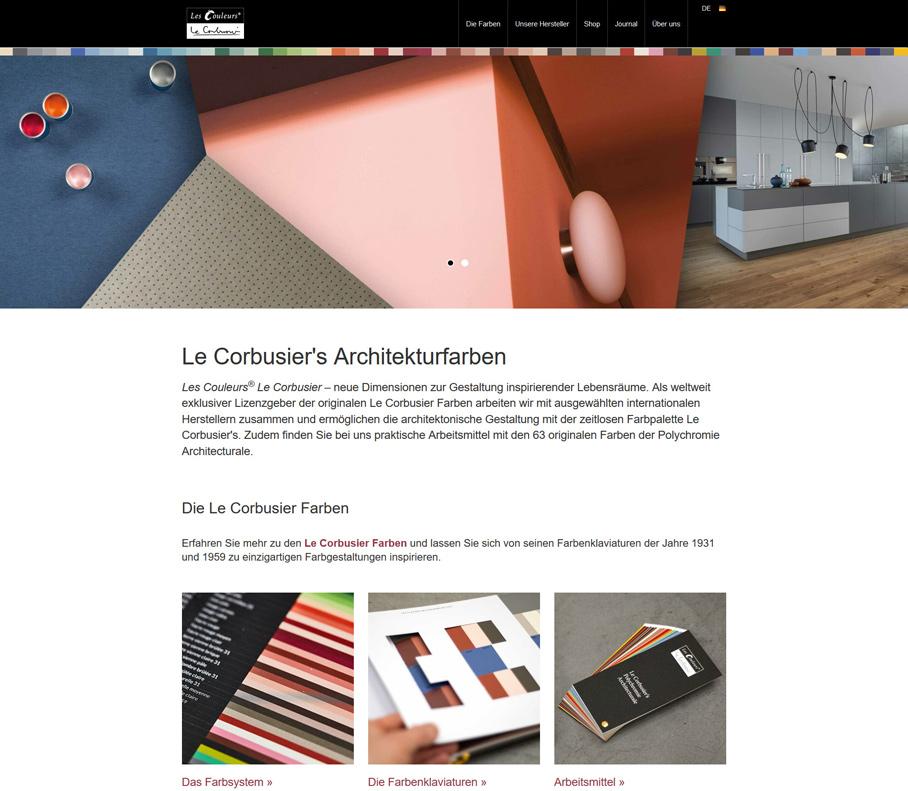 Screenshot Website lescouleurs.ch